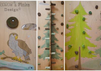 Wald-im-Kindergarten-kletterwand